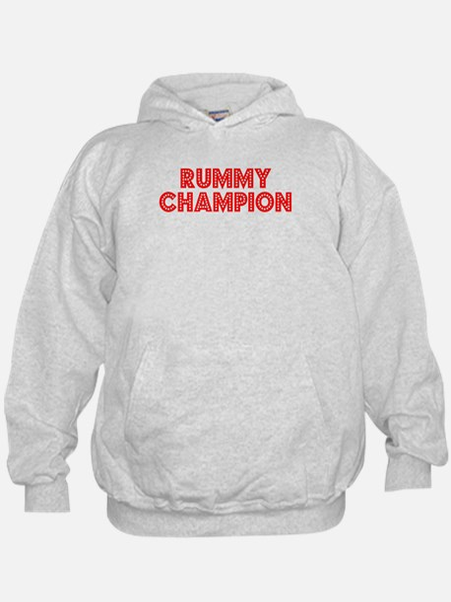Retro Rummy Champ.. (Red) Hoodie