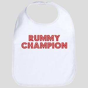 Retro Rummy Champ.. (Red) Bib