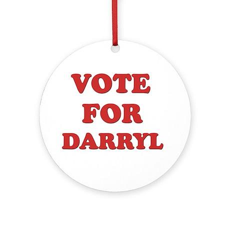 Vote for DARRYL Ornament (Round)