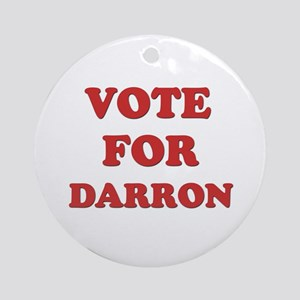 Vote for DARRON Ornament (Round)