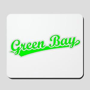 Retro Green Bay (Green) Mousepad