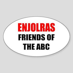 Enjolras Oval Sticker