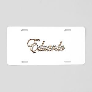 Gold Eduardo Aluminum License Plate