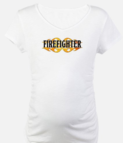 Firefighter Double Flames Shirt