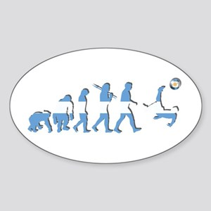 Argentinia Soccer Evolution Sticker (Oval)