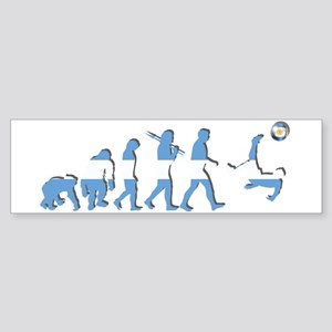 Argentinia Soccer Evolution Sticker (Bumper)