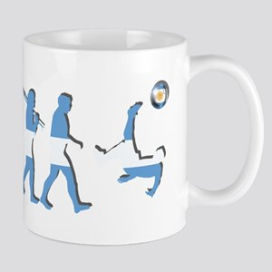 Argentinia Soccer Evolution 11 oz Ceramic Mug