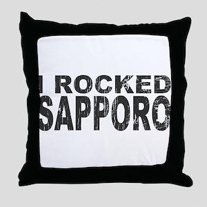I Rocked Sapporo Throw Pillow