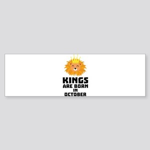Kings are born in OCTOBER Czx1p Bumper Sticker