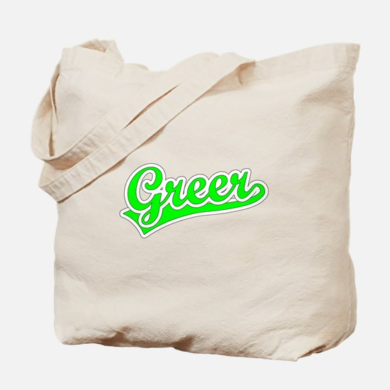 Retro Greer (Green) Tote Bag