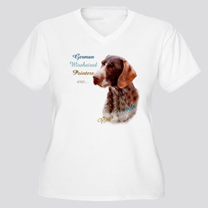 Wirehaired Best Friend1 Women's Plus Size V-Neck T