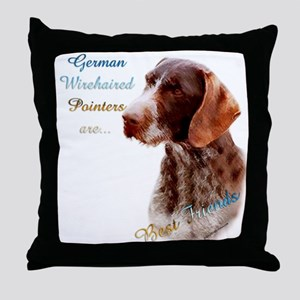 Wirehaired Best Friend1 Throw Pillow