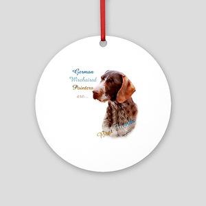Wirehaired Best Friend1 Ornament (Round)