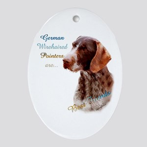 Wirehaired Best Friend1 Oval Ornament