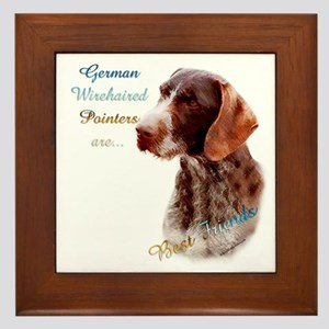 Wirehaired Best Friend1 Framed Tile