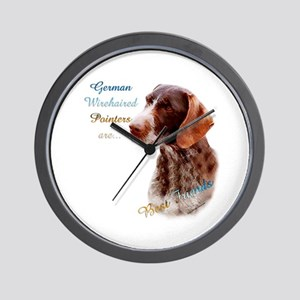 Wirehaired Best Friend1 Wall Clock