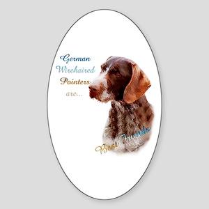 Wirehaired Best Friend1 Oval Sticker