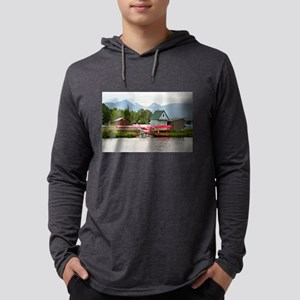 Float plane and mountains, Ala Long Sleeve T-Shirt