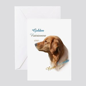 Golden Best Friend1 Greeting Card