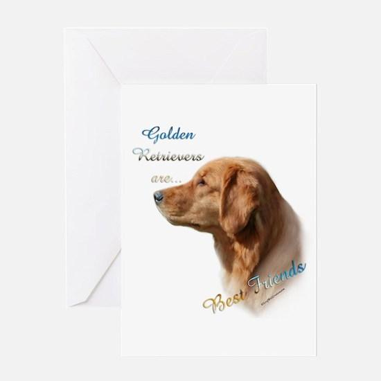 Golden Best Friend1 Greeting Card