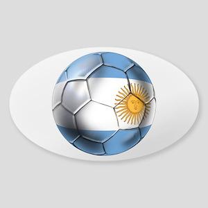Argentina Football Sticker (Oval)