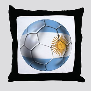 Argentina Football Throw Pillow