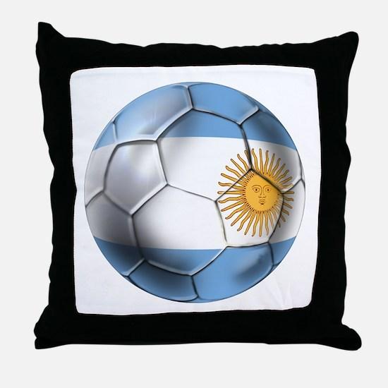 Argentina Football Throw Pillow