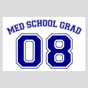 Med School Grad 08 (Blue) Large Poster
