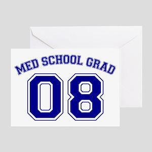 Med School Grad 08 (Blue) Greeting Card