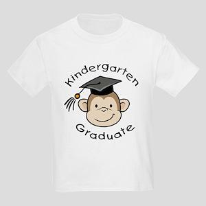 Monkey Kindergarten Graduate Kids Light T-Shirt