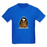 Cavewoman Penguin Kids Dark T-Shirt