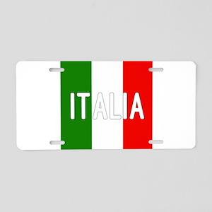 Italia Aluminum License Plate