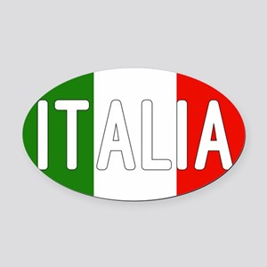 Italia Oval Car Magnet
