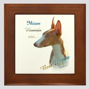 Ibizan Best Friend 1 Framed Tile