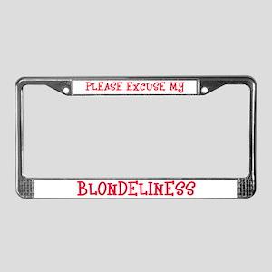 Blonde License Plate Frame