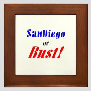 San Diego or Bust! Framed Tile