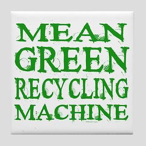 Mean Green Tile Coaster
