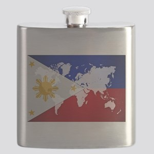 Filipinos Abroad World Flask