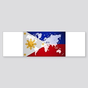 Filipinos Abroad World Bumper Sticker