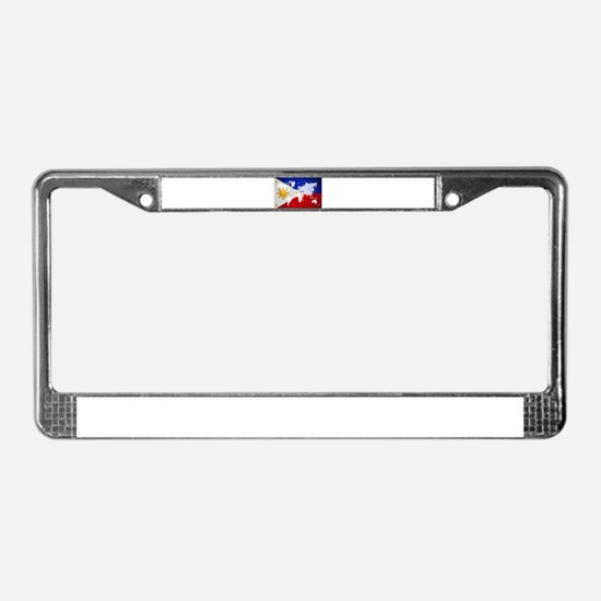 Filipinos Abroad World License Plate Frame