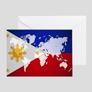 Filipinos Abroad World Greeting Cards