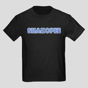 Retro Shakopee (Blue) Kids Dark T-Shirt