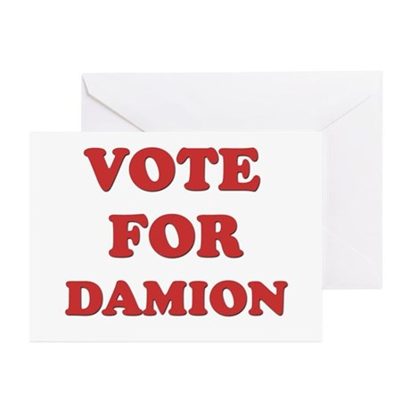 Vote for DAMION Greeting Cards (Pk of 20)
