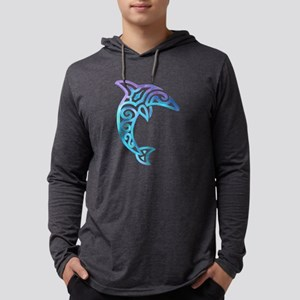 Tribal Dolphin Long Sleeve T-Shirt