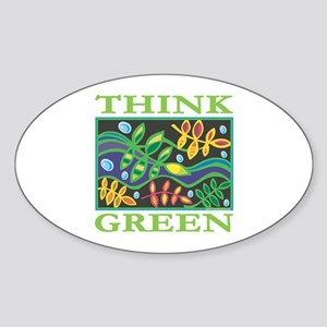 Environmental Oval Sticker