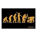 Hockey Goon Evolution Rectangle Sticker