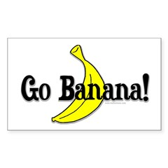 Go Banana! Rectangle Decal