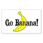Go Banana! Rectangle Sticker