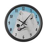 Samoyed Large Wall Clock
