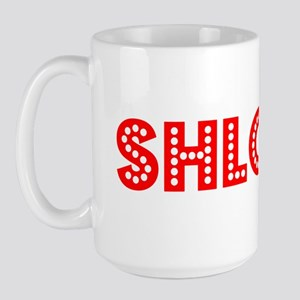 Retro Shlomo (Red) Large Mug